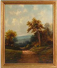 Oil on Canvas Mounted on Board, Landscape