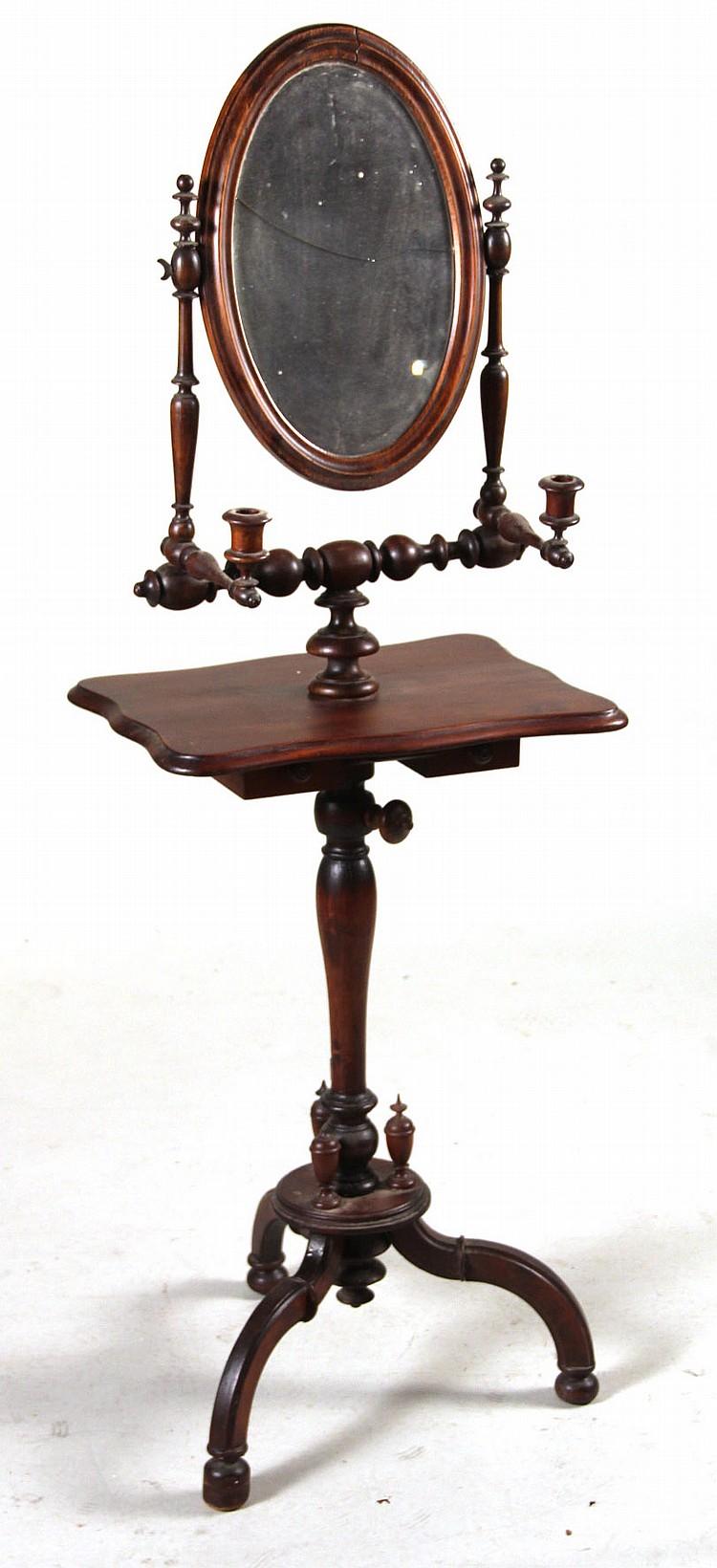 Victorian mahogany shaving mirror for Victorian mirror