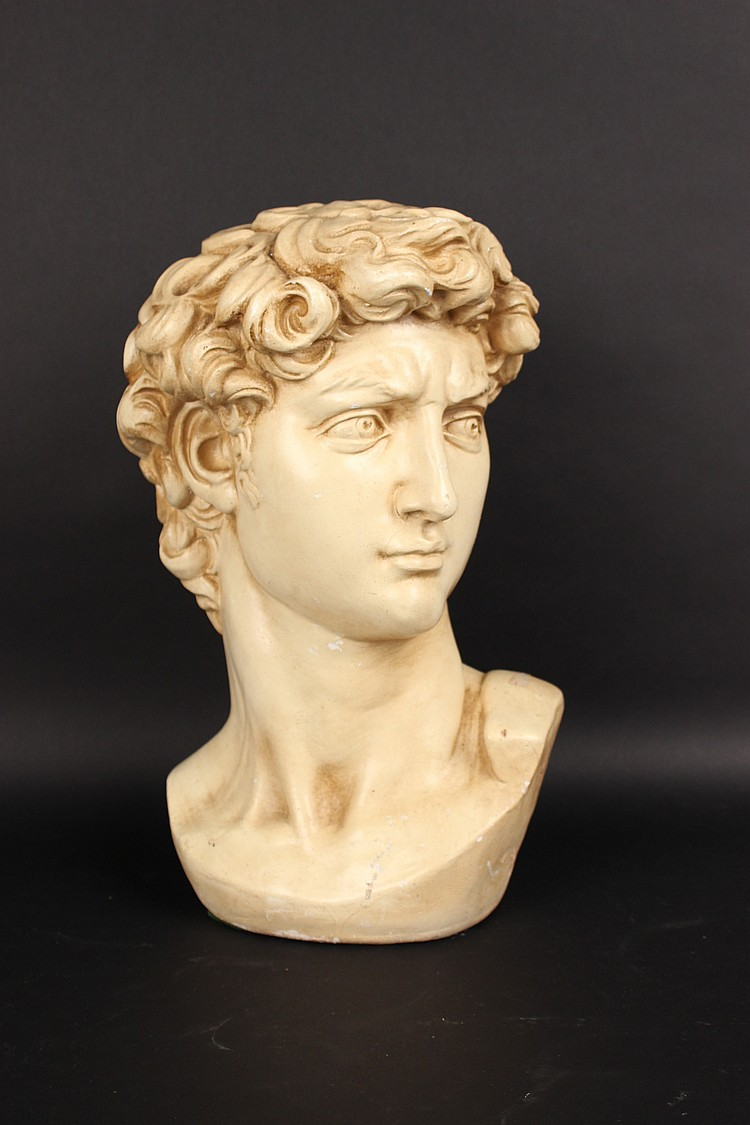 Plaster Bust Of David 20th C