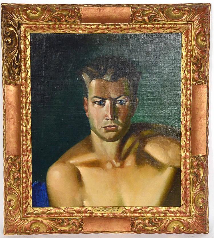 Oil On Canvas, Portrait Of A Man, George Luks