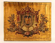 Oil on Canvas, Coat of Arms of Napoleon Bonaparte