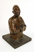 Bronze Sculpture of a Man, Gaston Hauchecorne