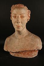 Plaster Bust of a Woman, Charles Despaiu