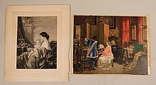 Print, Interior Scene, Louis Haghe