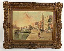 Oil on Canvas, The Riva Venice, Nicholas Briganti