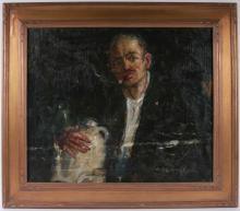 "John R. Grabach, Oil on Canvas, ""The Wine Maker"""
