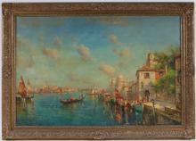 Nicholas Briganti, Oil on Canvas, Venetian Scene