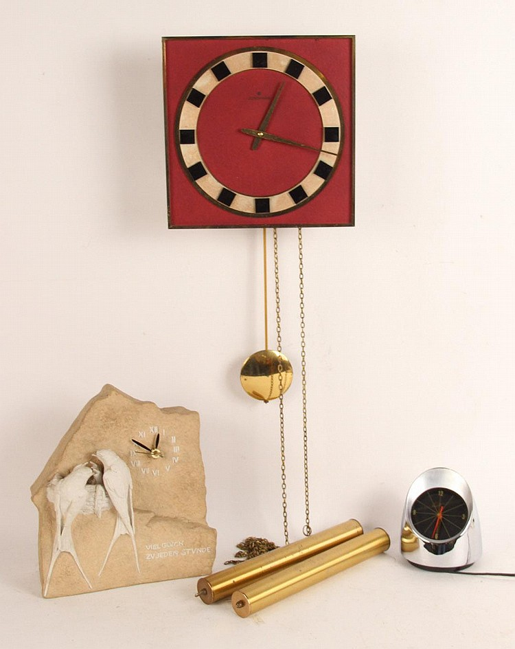 art deco junghans meister wall clock