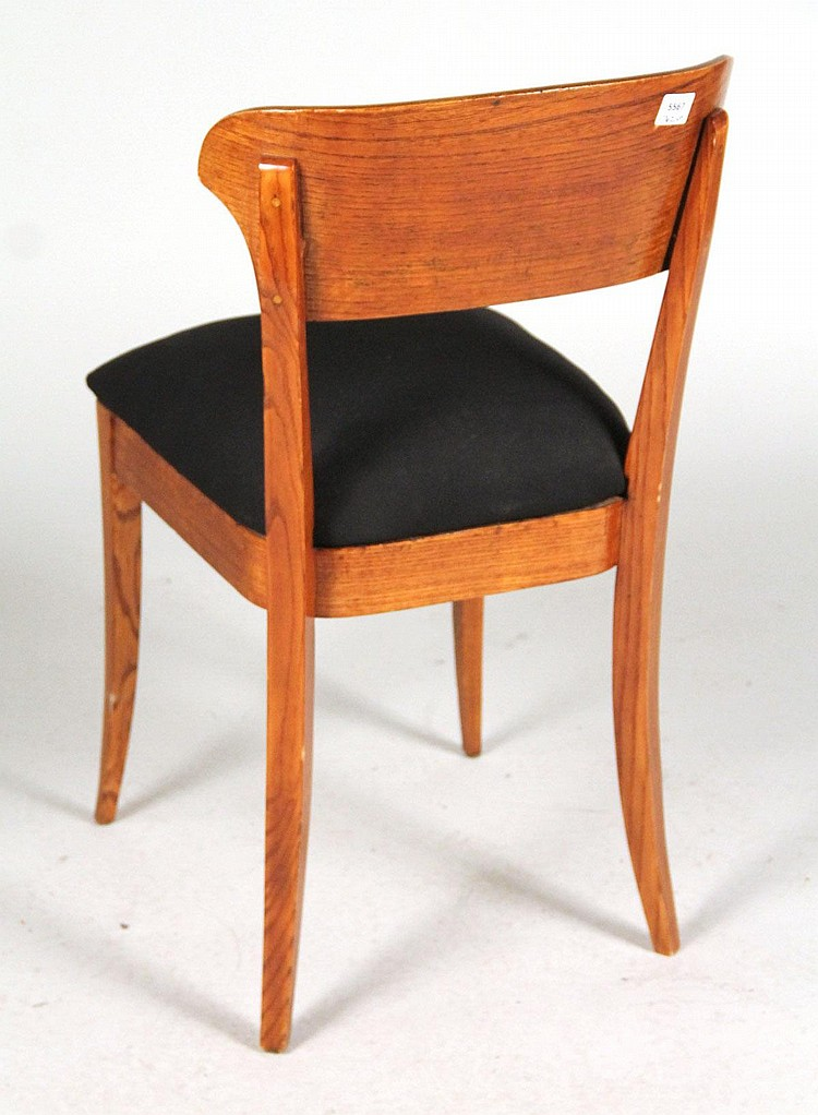 lot 460 four danish modern teak side chairs