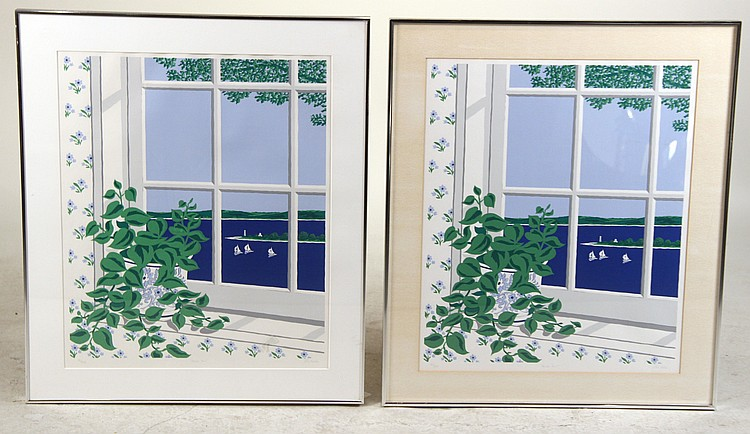Two Silkscreens, Harbor Point, Eric Holch