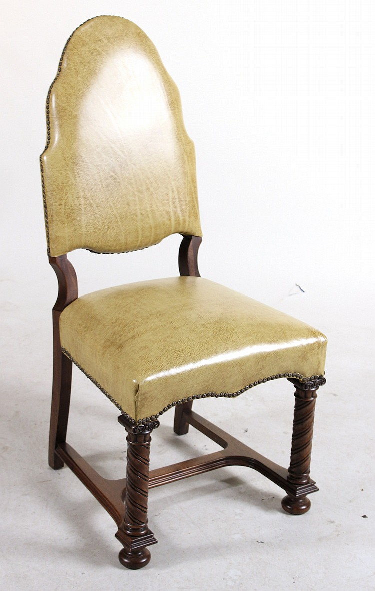 Six baroque style mahogany dining chairs for Baroque style dining chairs