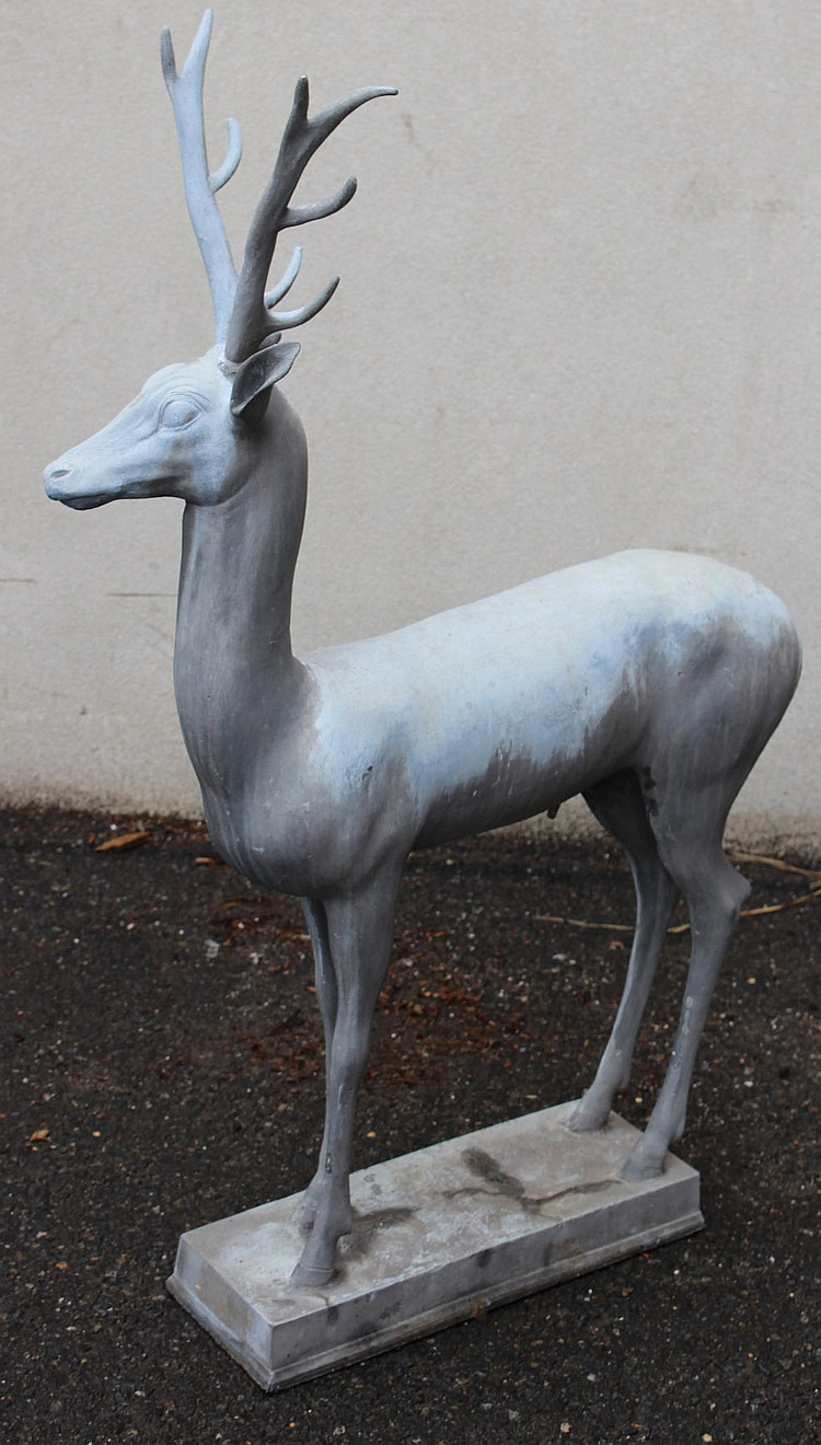 Cast Stone Stag Figure