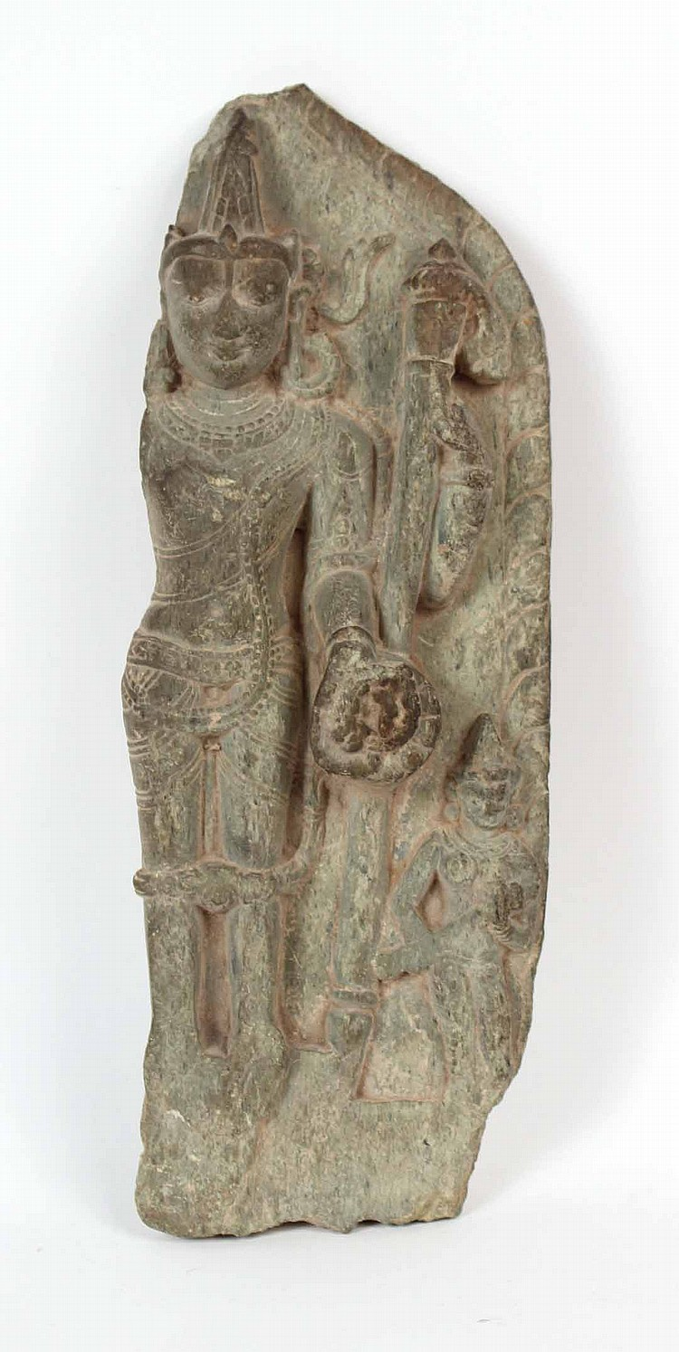 Two thai stone carvings