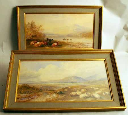 TWO SIMILARLY FRAMED WATERCOLORS