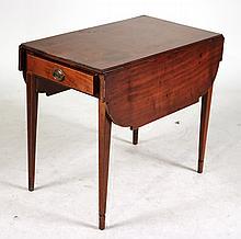Federal Inlaid Mahogany Pembroke Table