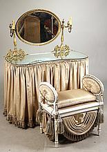 Gilt-Metal Mounted White Painted Vanity