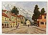 Oil on Canvas Streetscape, Dennis Ainsley, Dennis Ainsley, $150
