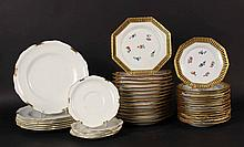 Thirty Ernst Wahliss Octagonal Porcelain Plates