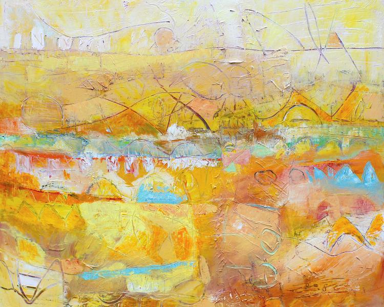 Acrobat - original painting on canvas