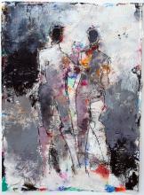 Two Figure Study No. 4 - mixed media original painting