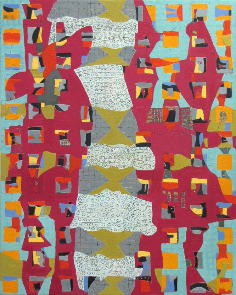 Square Dance - original mixed media painting
