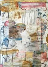 Room of Tatters No. 6 - mixed media on paper
