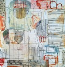 Room of Tatters No. 5 - mixed media on paper