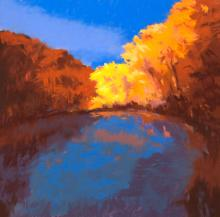Blue Reflection - pastel painting