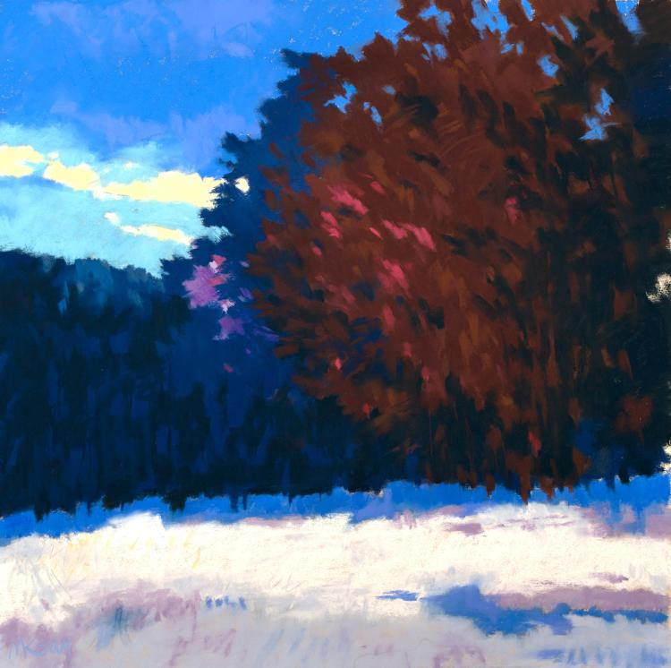 Cold Morning - original pastel painting