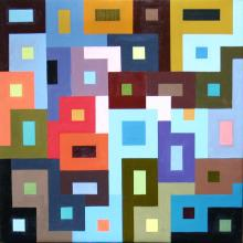 Square Deal - oil painting on canvas