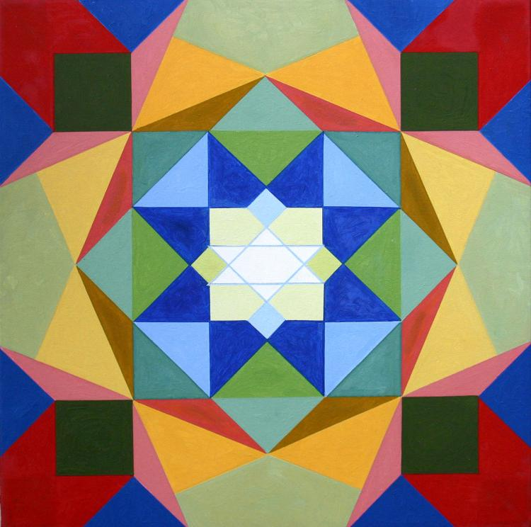 Chakra 6 - oil on canvas