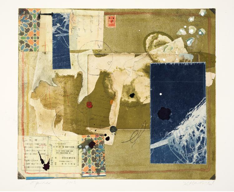 Equinox - Original Monotype Collage Print