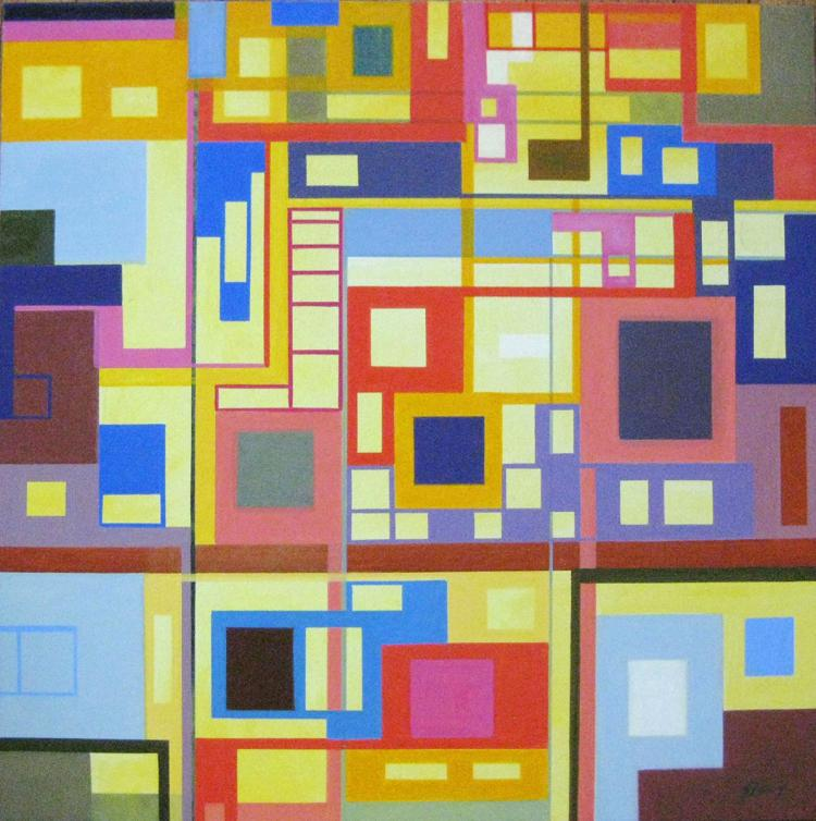 Homage to the Squares - original oil painting