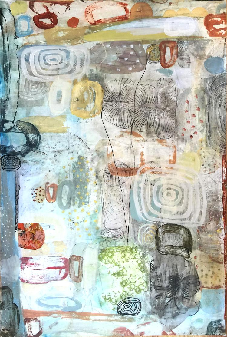 The Waters No. 4 - Mixed Media Painting on Paper