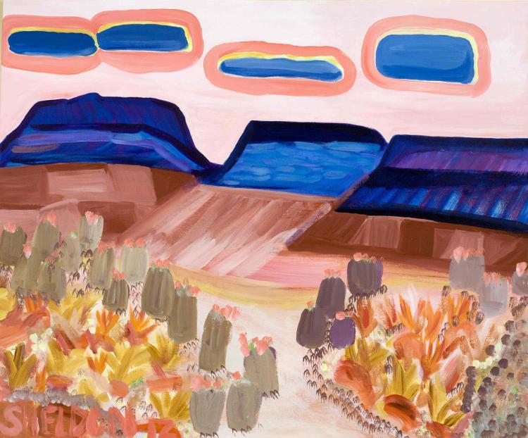 3 Blue Mesas - Original Acrylic Landscape Painting