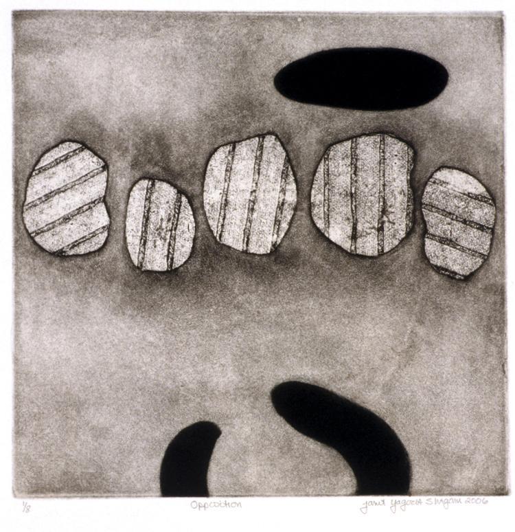 Opposition - Original Etching Print