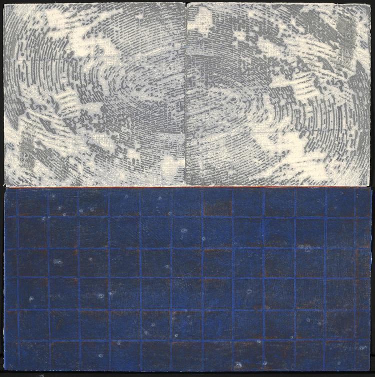 Stars and the Heavens Above - Original Collagraph Print