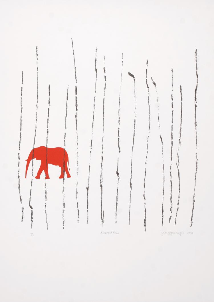 Elephant Fred - Limited Edition Lithograph Print