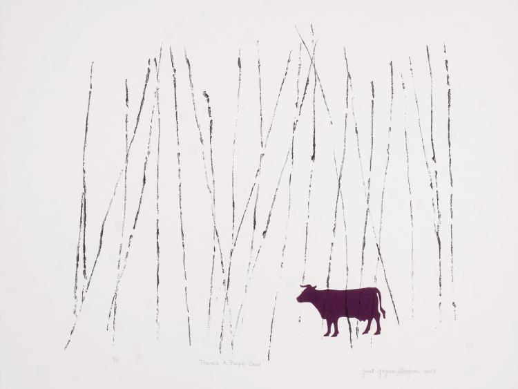 Theres A Purple Cow! - Limited Edition Lithograph Print