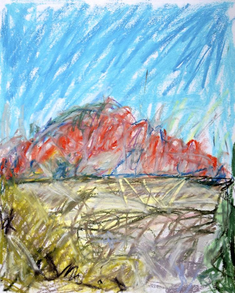 Kenyon 1 - Oil Pastel on Paper