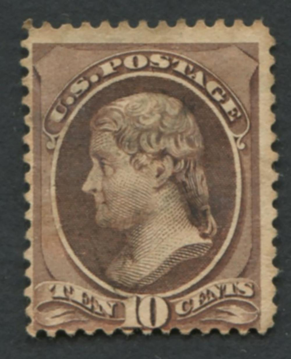 USA 1870-71 #150 A49 10c Brown MVVLH NG