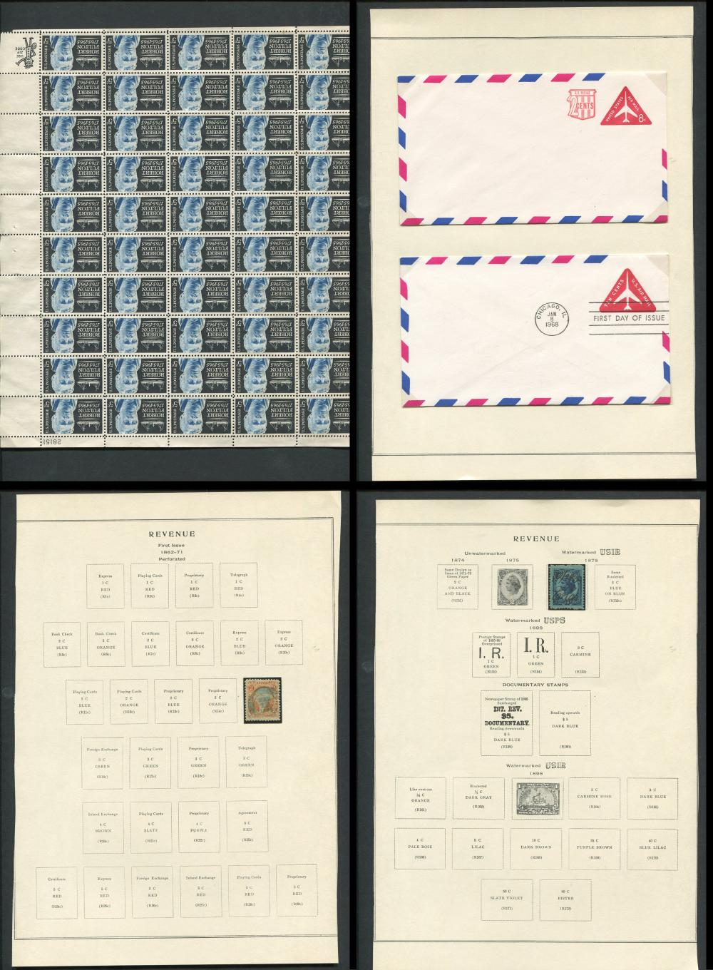 USA Postage Due, Covers & Souvenir Sheets Collection