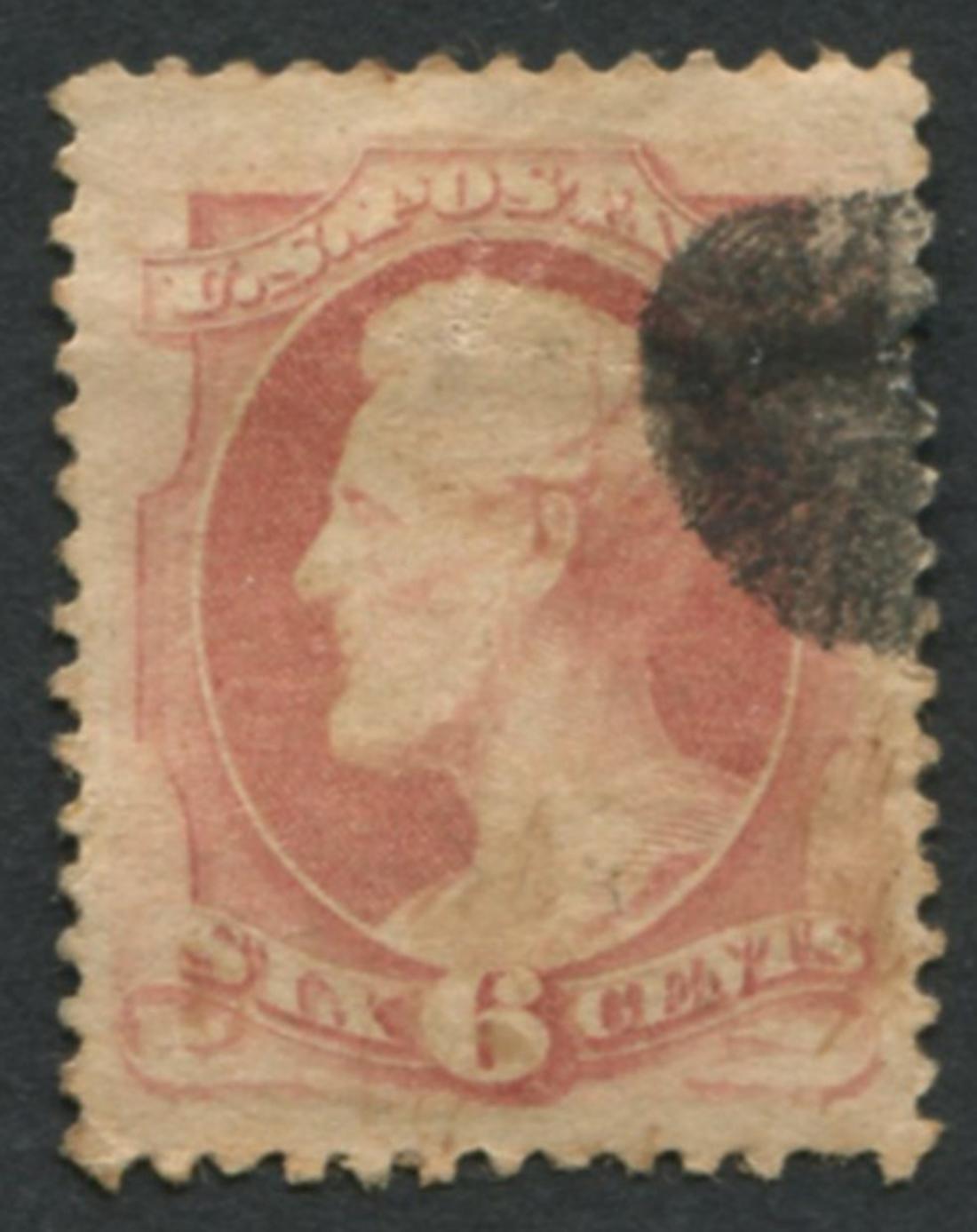 USA 1870 S/C #137 a47 6c Carmine Stamp