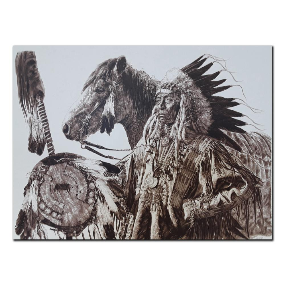 """Paul Calle's """"Chief High Pipe"""" Limited Edition Print"""