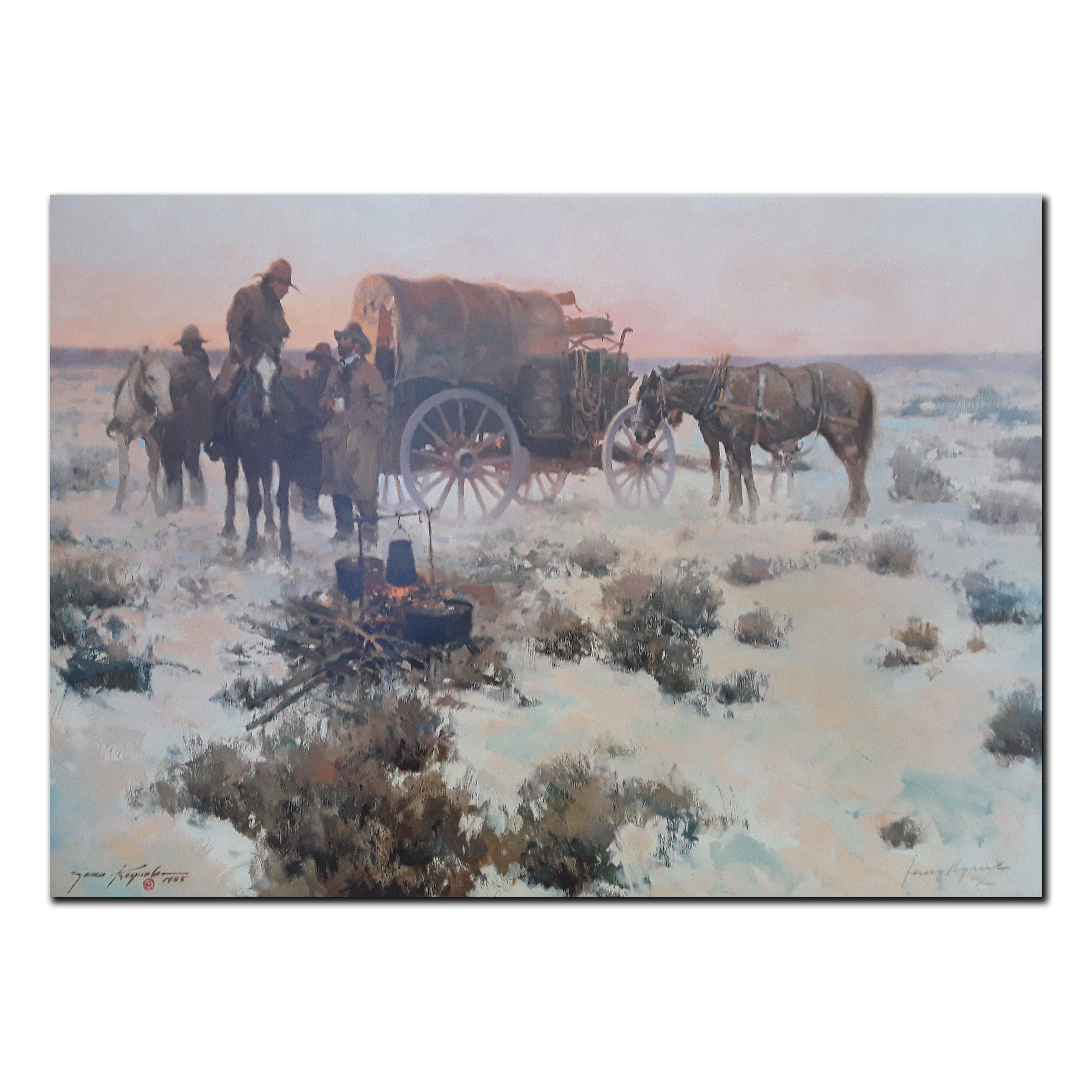 """James Reynolds' """"Cold Country, Hot Coffee"""" Limited Edition Print"""