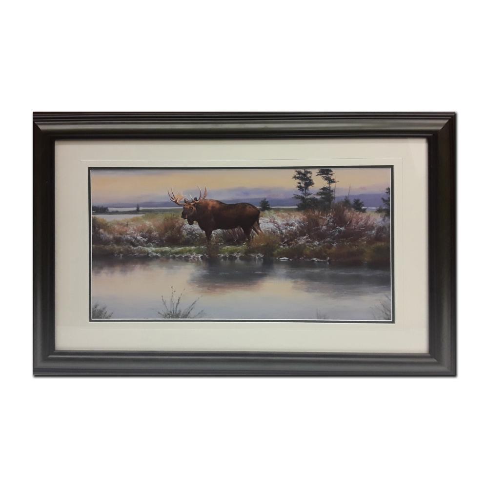 Open Edition Moose Framed Print