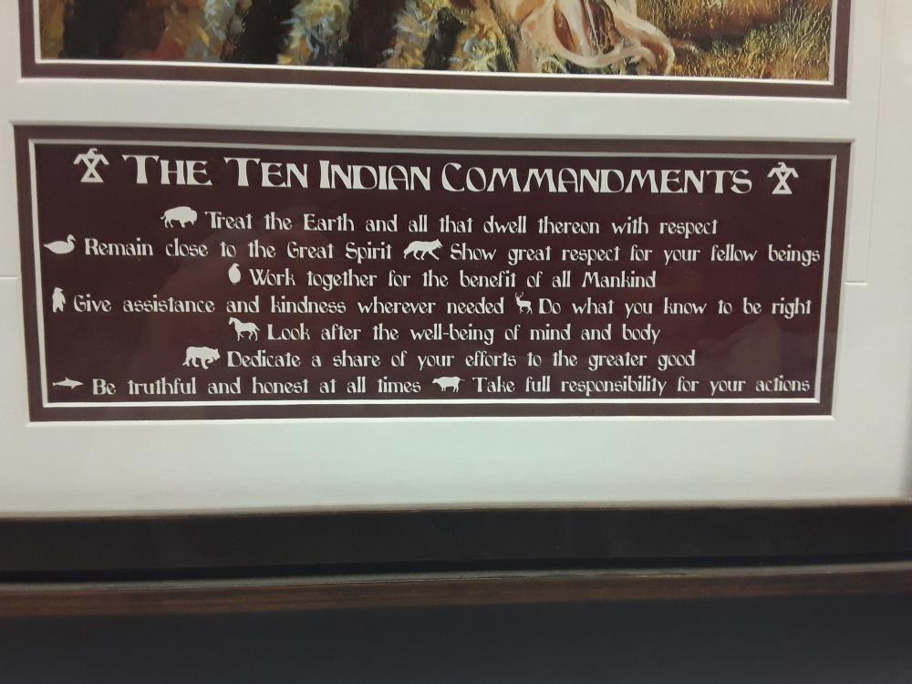Native Art - The Ten Commandments Framed