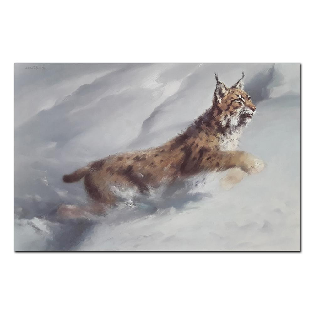 "Manfred Schatz's ""Lynx"" Limited Edition Print"