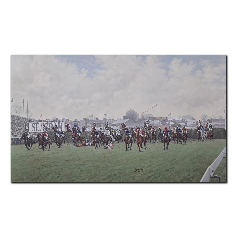 """Roy Miller's """"First Fence- 1988 Grand National"""" Limited Edition Print"""