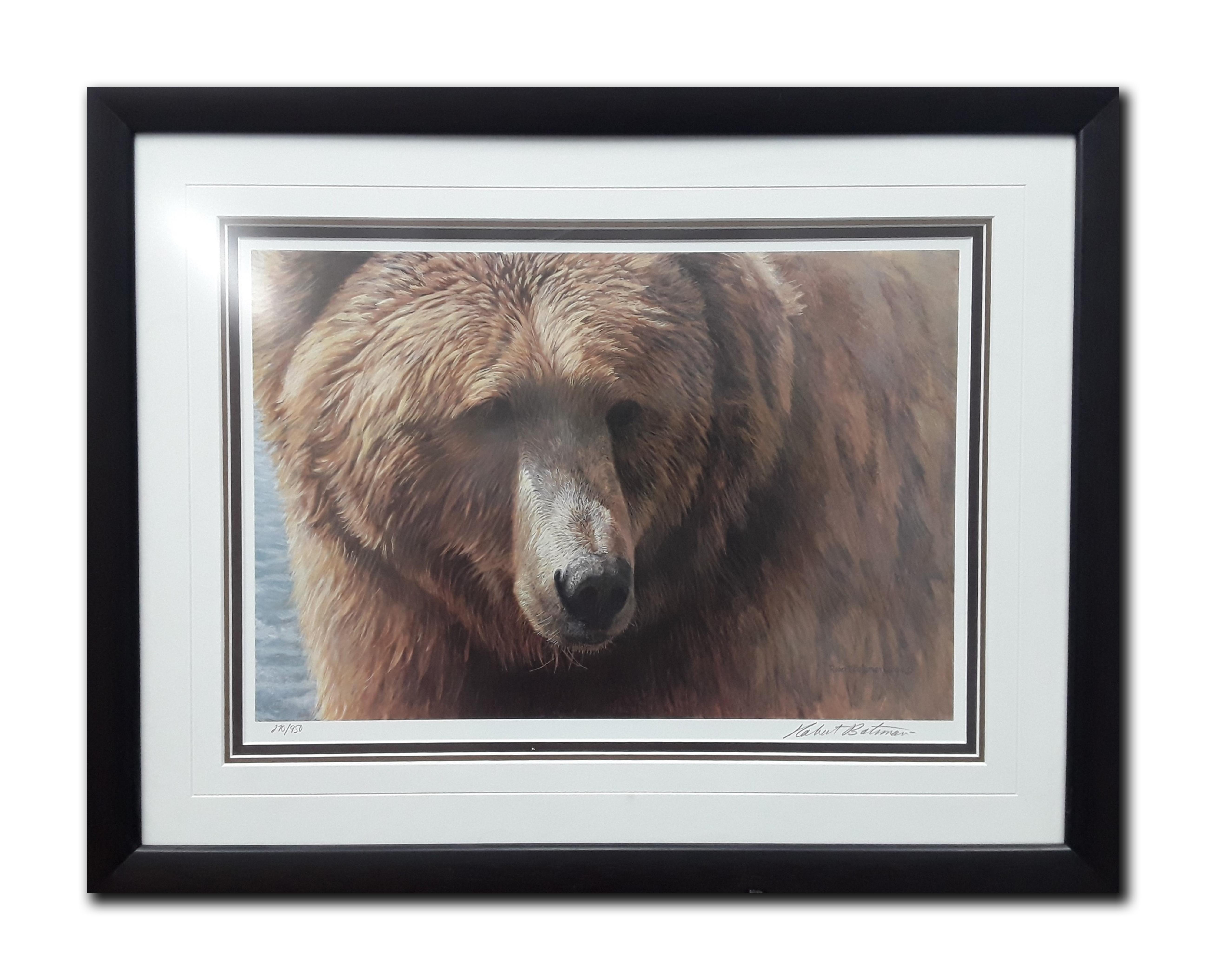 "Robert Bateman's ""Grizzly Head Portrait"" Limited Edition Framed Print"